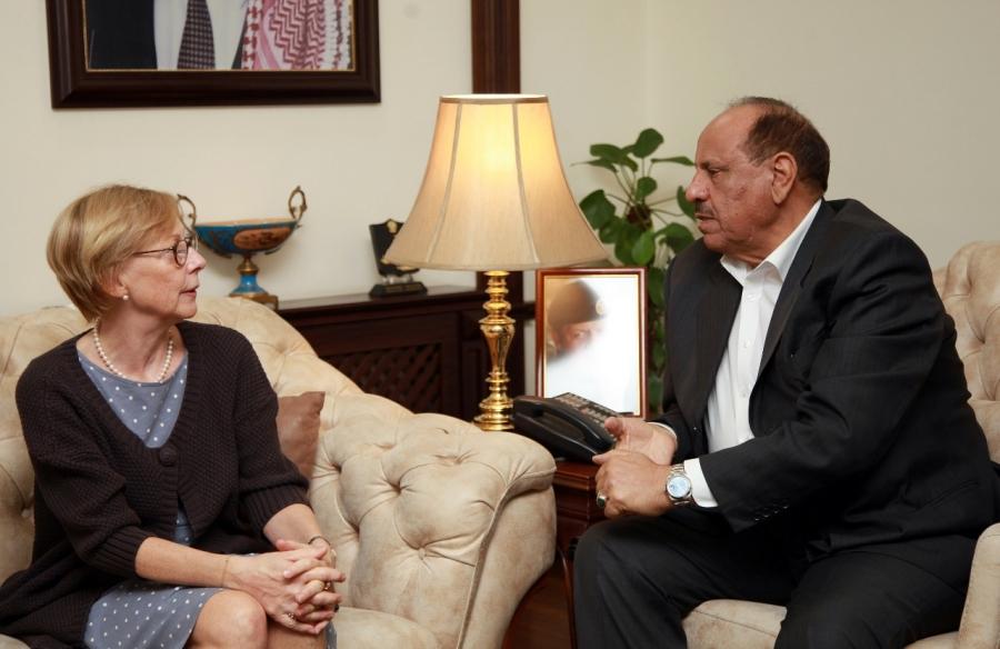 سلامة حماد يلتقي السفيرة الالمانية في عمان