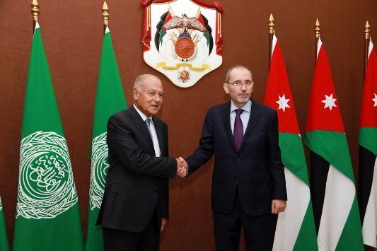 الصفدي يلتقي الأمين العام لجامعة الدول العربية