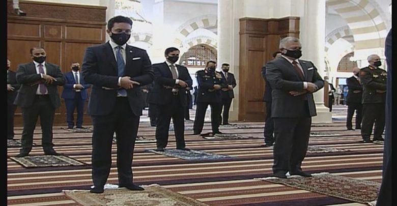 الملك وولي العهد يشاركان الأردنيين صلاة العيد في مسجد الملك الحسين بن طلال