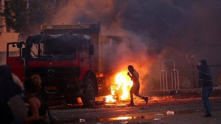 مقتل شرطي بتظاهرات بيروت