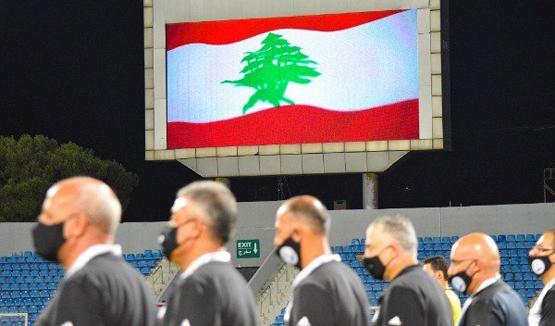 تضامن كروي اردني مع لبنان