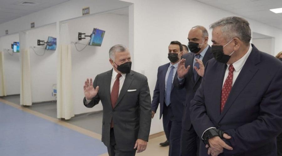 عاجل  الملك يفتتح مستشفى العقبة الميداني المخصص لاستقبال مصابي كورونا
