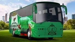 فريق الوحدات في الباص بعد الفوز على النصر السعودي