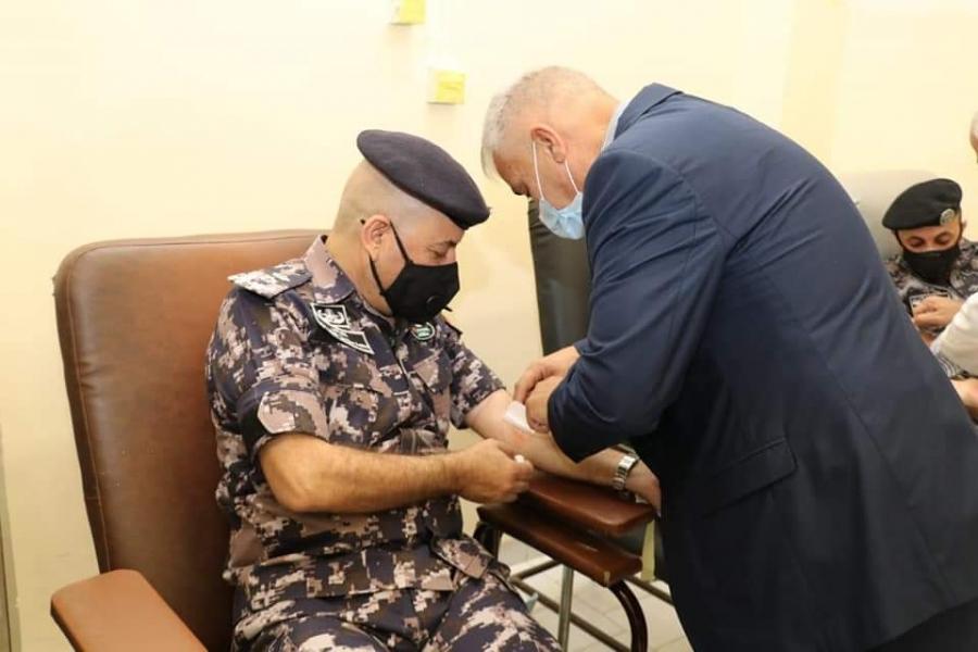 دفاع مدني مأدبا تنظم حملة تبرع بالدم تستمر لمدة ثلاثة أيام