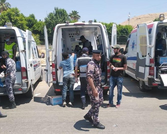 في أبهى صورة أردنية  الدفاع المدني يقدم خدمات الاسعاف لمسيرة الكرامة  صور