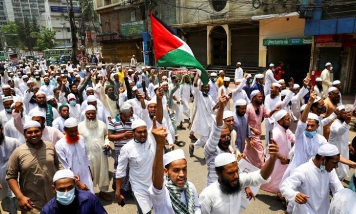 مظاهرات شعبية حول العالم تضامناً مع فلسطين المحتلة