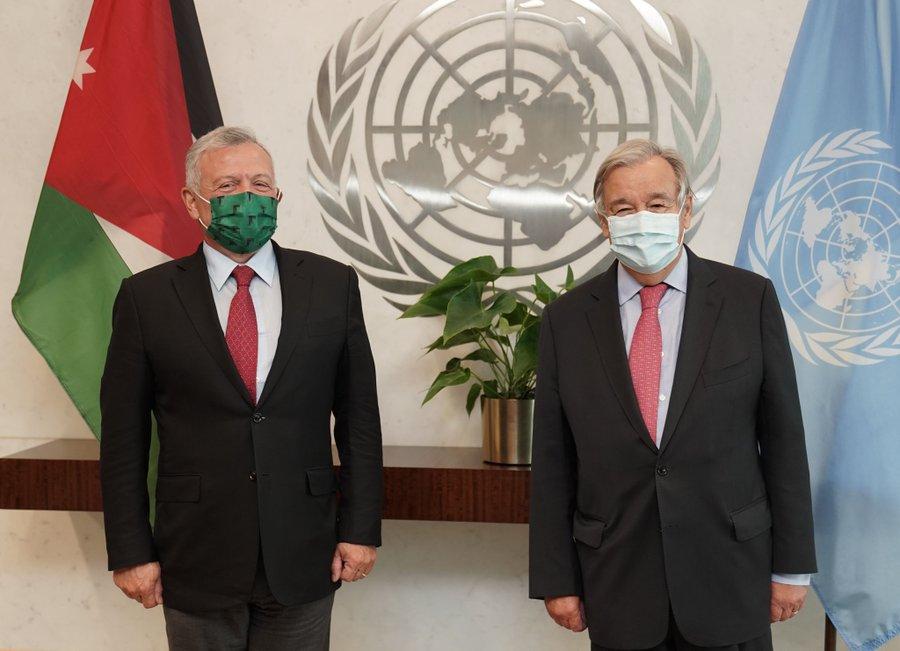 الملك يؤكد أهمية دور الأمم المتحدة في تحريك عملية السلام